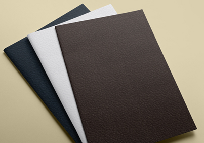 Textured brochure paper in range of colours